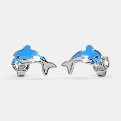 The Blue Dolphin Kids Stud Earrings