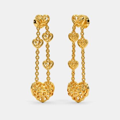 Knits of Love Long Drop Earrings