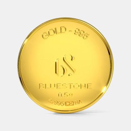 500 milligram 24 KT Gold Coin
