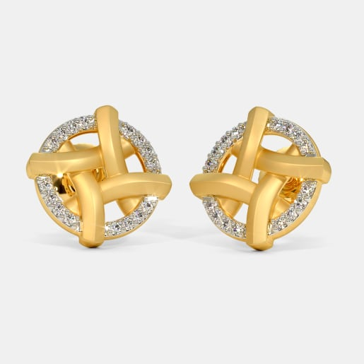 The Crisscross Stud Earrings