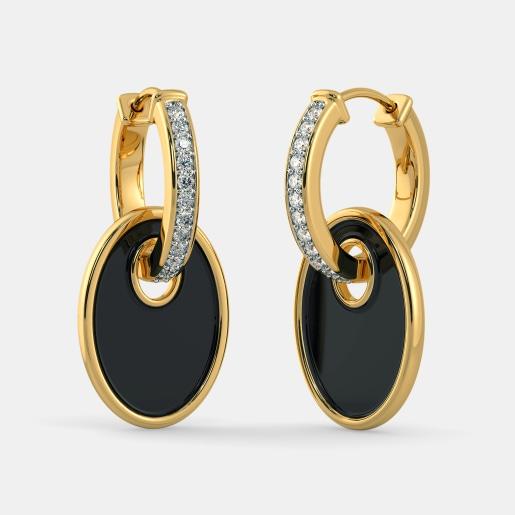 The Lady in Black Hoop Earrings
