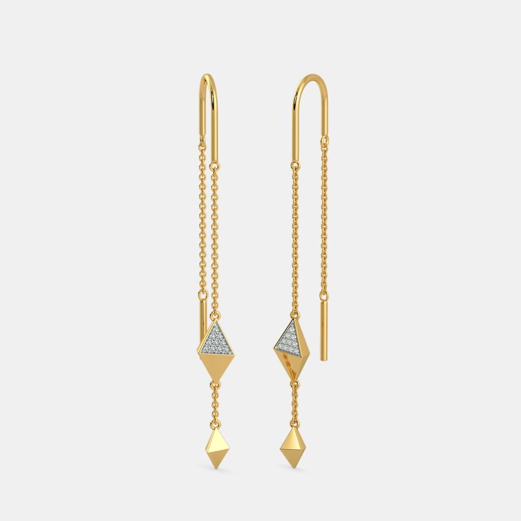 403db3bb8 The Vitality Sui Dhaga Earrings | BlueStone.com