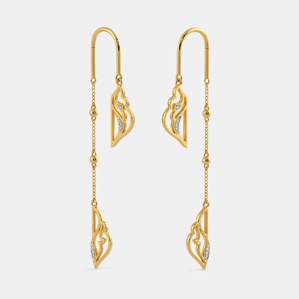 85b95c543 The Sehr Sui Dhaga Earrings | BlueStone.com