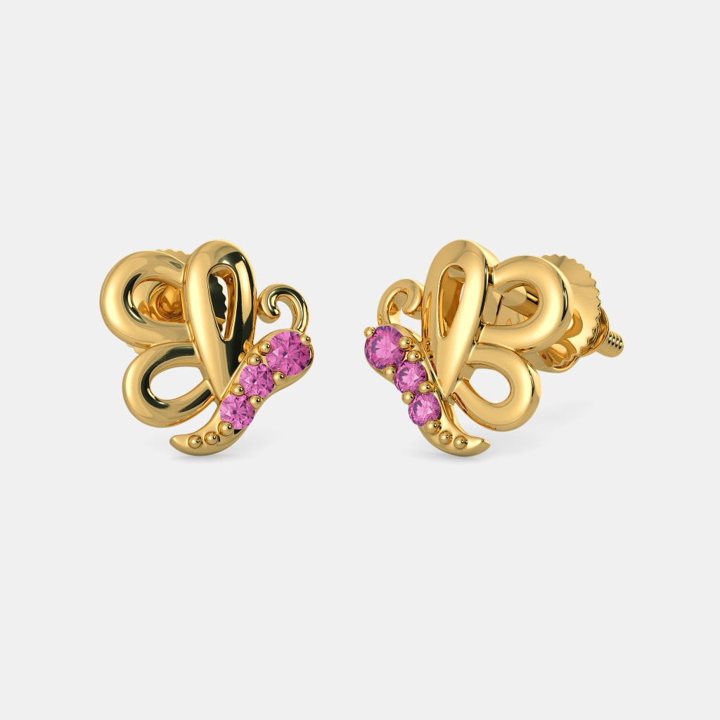 33cab6cde The Pretty Butterfly Earrings For Kids | BlueStone.com