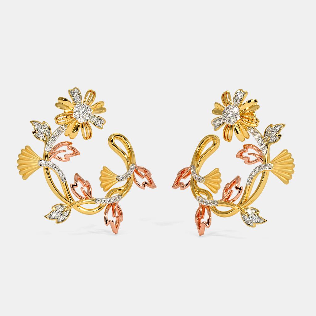 The Romario Orange peel Hoop Earrings