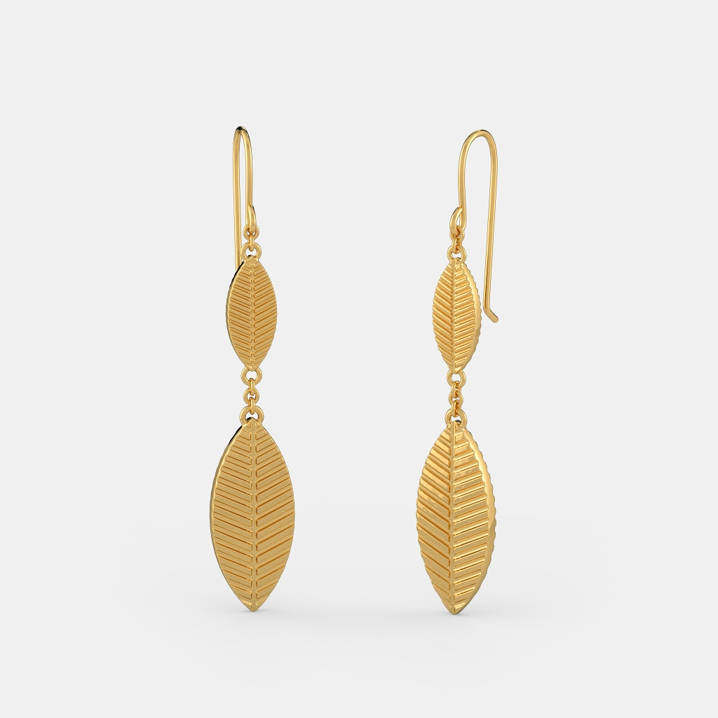 3ed766684c319 The Gold Leaf Drop Earrings