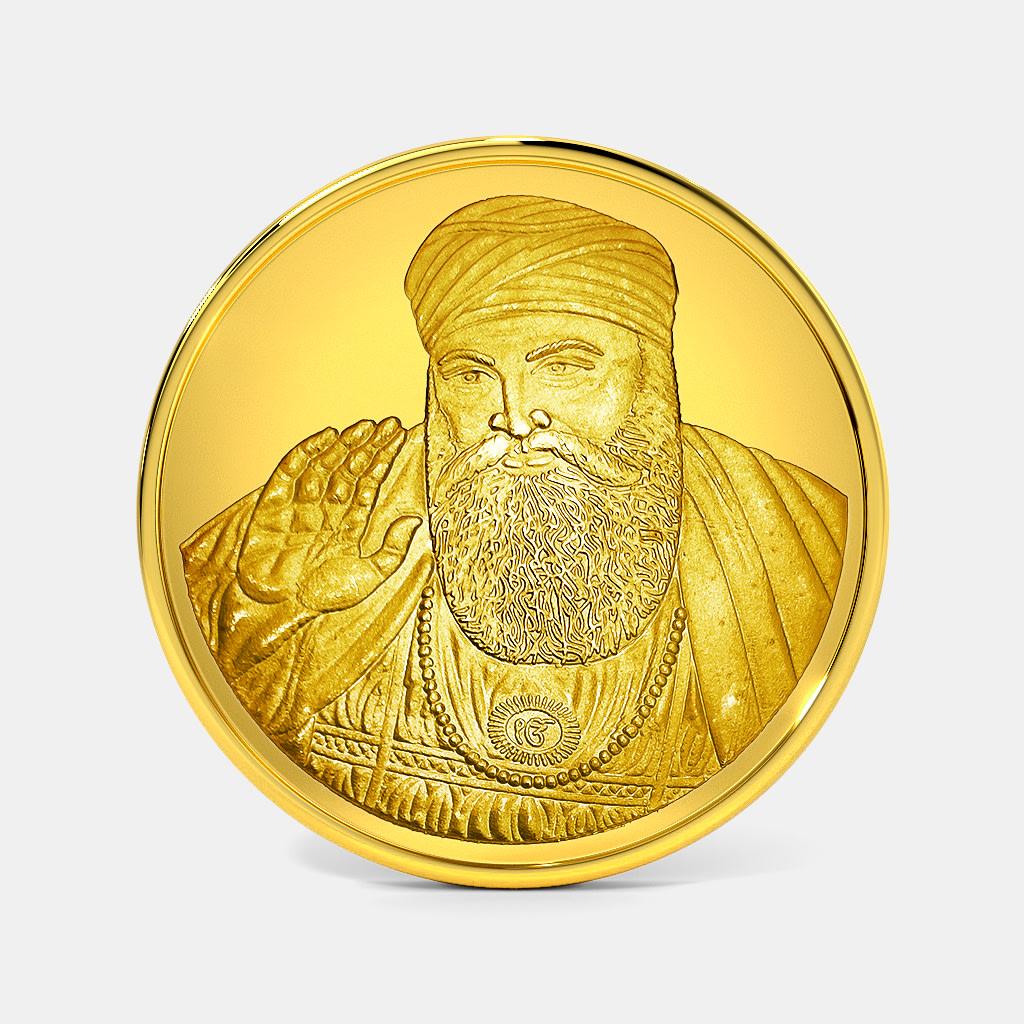 50 gram 24 KT Guru Nanak Ji Gold Coin