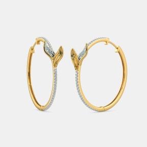 The Folium Hoop Earrings