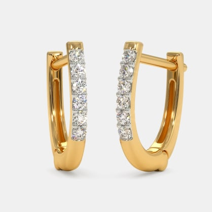 The Handan Huggie Earrings