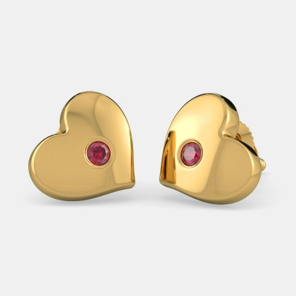 The Truest Heart Stud Earrings For Kids