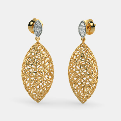 The Ooid Lattice Earrings