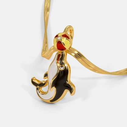 The Playing Dolphin Kids Pendant