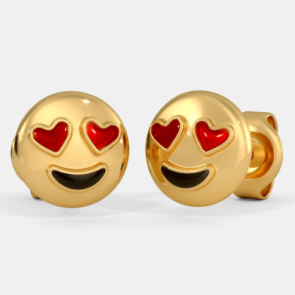 The Heart Smiley Kids Stud Earrings