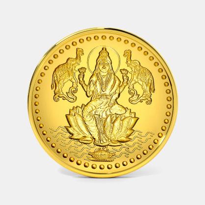 2 gram 24 KT Lakshmi Ji Gold Coin