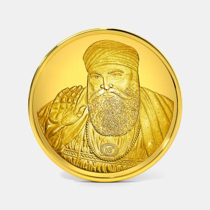5 gram 24 KT Guru Nanak Ji Gold Coin