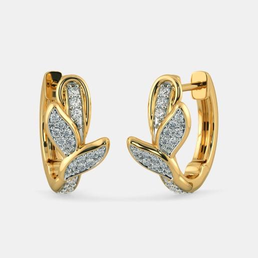 The Liana Leaf Huggie Earrings