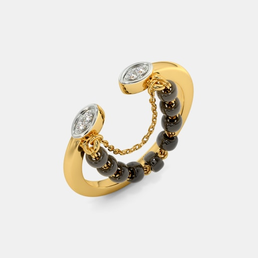 The Saavni Mangalsutra Top Open Ring