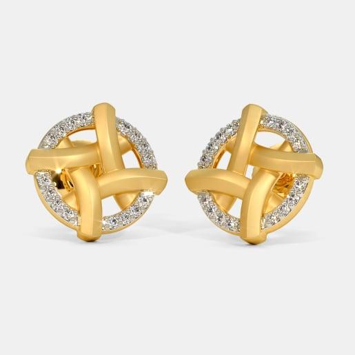 The Crisscross Stud Earrings