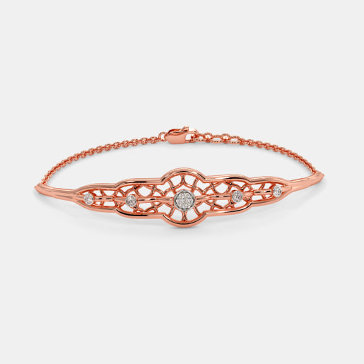 The Lady Blush Oval Bangle