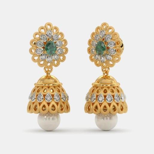 1ce29a1eaec2c Buy 50+ Gold Jhumka Earring Designs Online in India 2019 | BlueStone.com