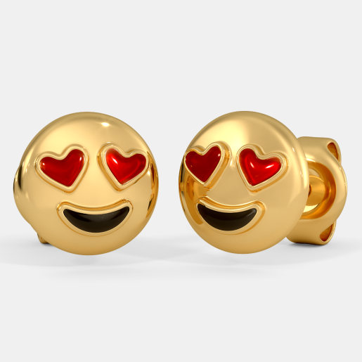 The Heart Smiley Kids Stud Earrings