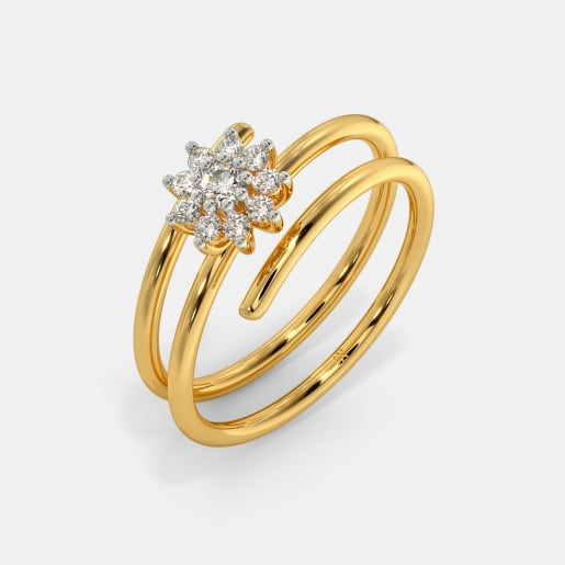 The Sparkling Spiral Ring