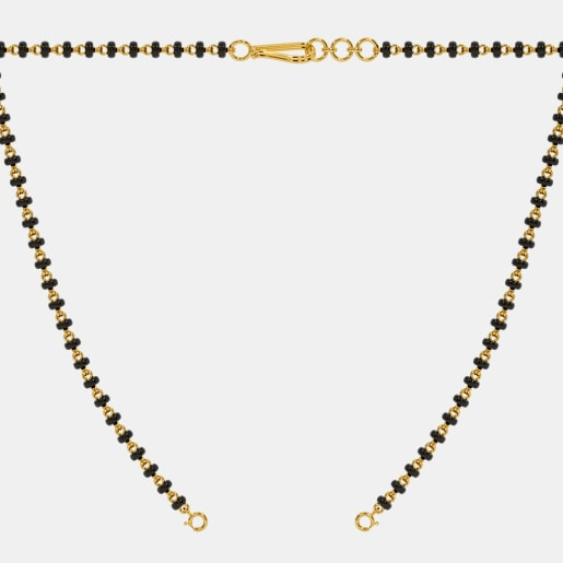 The Microbead Mangalsutra Single Line Open Chain With Lock