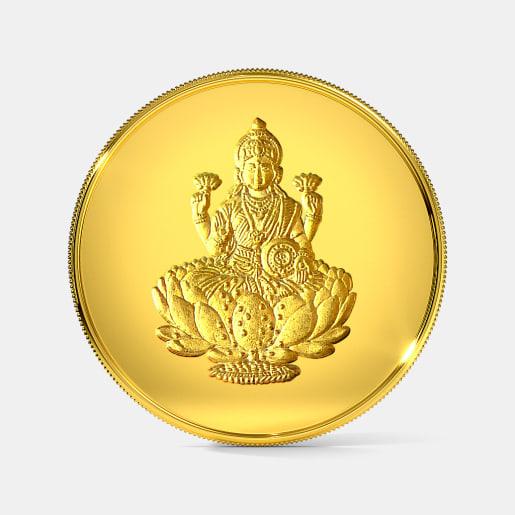 5 gram 24 KT Lakshmi Gold Coin