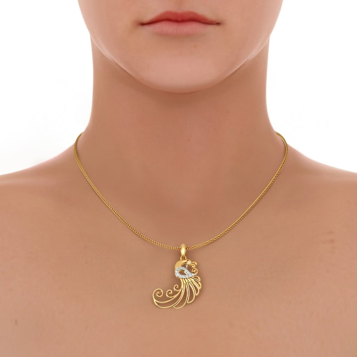 The Swaying Feather Pendant
