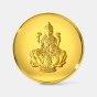 50 gram 24 KT Lakshmi Gold CoinFront